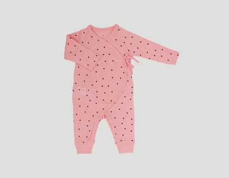 baby organic jump suit(pink-heart)